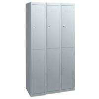 Locker - Steel - Statewide - 1140 x 450 x 1800mm - 2 Tier - Bank of 3