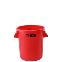 60L Thor Utility Plastic Container Round Bin - Red