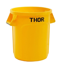 166L Thor Utility Plastic Container Round Bin -  Yellow