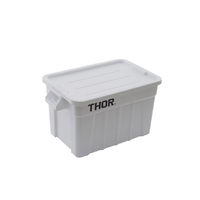 75L Thor Plastic Storage Container With Lid - Food Grade - White - 708 x 434 x 384mm