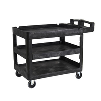 230kg Rated 3 Tier Heavy Duty Utility Cart - 1150 x 640 x 980mm