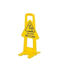 "T/Frame Safety Sign ""Caution Wet Floor"" - Yellow"
