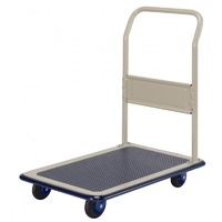 300kg Rated Platform Trolley With Handle - Vinyl Top - 920 X 620mm