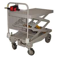 400KG Powered Trolley with Powered Scissor Lift - 4 Wheel