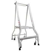 Monstar Ladder 150KG Platform Aluminium Ladder Heavy Duty - 2 Step - 570mm