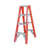 4 Steps Indalex Pro Fiberglass Double Sided Step Ladder - 1.2m - 180kg Rated