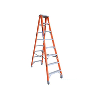 8 Steps Indalex Pro Fiberglass Double Sided Step Ladder - 2.4m - 180kg Rated