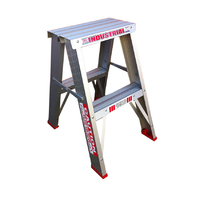 Indalex Trade Aluminium Double Sided Step Ladder -  2 Step - 600mm -  150kg