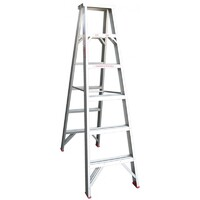 Indalex Trade Aluminium Double Sided Step Ladder - 6 Step - 1800mm - 135kg