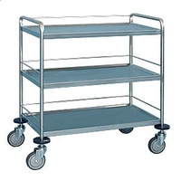 3 Tier Stainless Steel Trolley - Traymobile - 3 Tier - 900 X 500mm