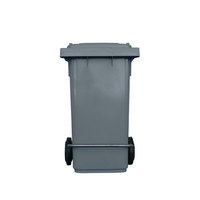 120L Industrial Wheelie Waste Bin With Lid Lifter - Grey