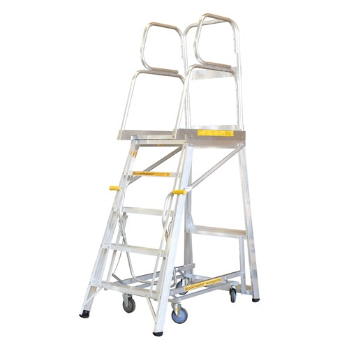 150KG Stockmaster Mobile Work Platform Ladder Navigator - 1435mm