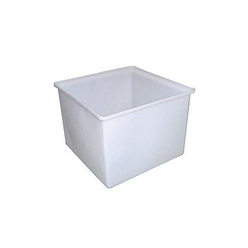 160L Food Grade Square Rotomould Plastic Bin - 690 x 690 x 490mm - Natural