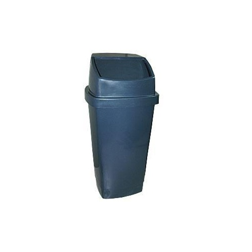 Bin - Waste - Swing Top Tidy - 60 Litre - Charcoal