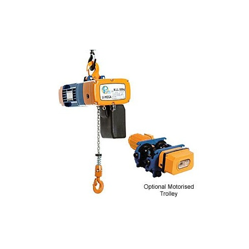 Pacific Electric 240V Single Phase Duel Speed Chain Hoist - 1000kg