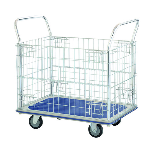 150kg Rated Platform Trolley Mesh Sides Vinyl Top 920 x 615mm