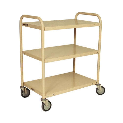 200KG Steel Multipurpose 3 Deck Trolley - 810 x 510mm - Beige - Australian Made