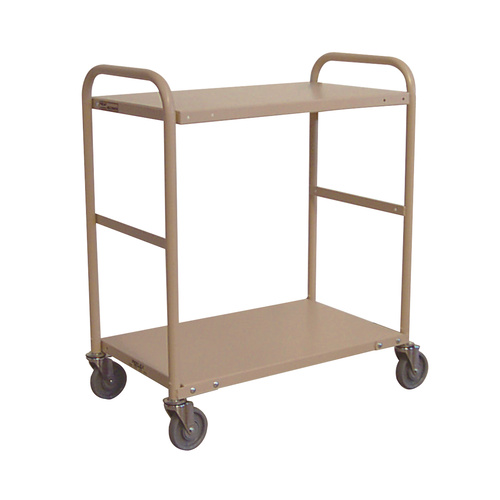 200KG Steel Multipurpose 2 Deck Trolley - 1110 x 710mm - Beige - Australian Made