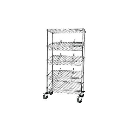 Hospital Mobile Storage - Chrome Wire - Suture Trolley